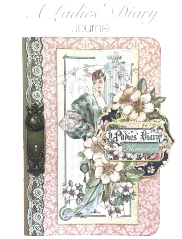 Ladies Diary Journal with fun tabs. Printable step by step tutorial on the blog. By Maria Cole