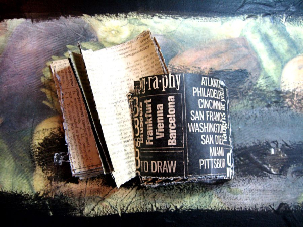 Create Mixed Media Home Decor Step Out Photo, DIY Quotes and Newsprint, Cityscapes, by Kathy Clement. Product by Graphic 45 Photo 2 jpg