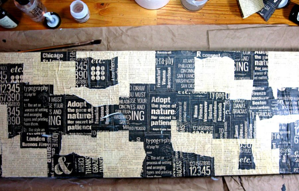 Create Mixed Media Home Decor Step Out Photo, DIY Quotes and Newsprint, Cityscapes, by Kathy Clement. Product by Graphic 45 Photo 3 jpg