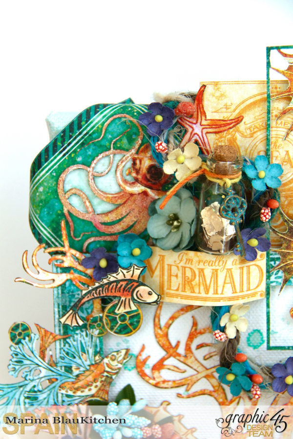 Mix media Canvas Voyage Beneath the Sea by Marina Blaukitchen Product by Graphic 45 photo 1
