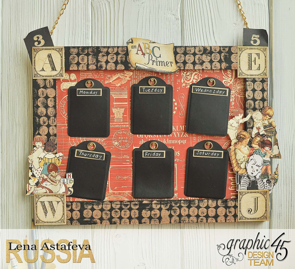 School timetable-An ABC Primer-Tutorial by Lena Astafeva-products by Graphic 45-Photo-12