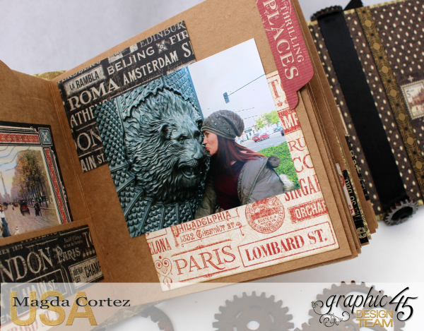 Cityscapes Mini Album, CityScapes, Magda Cortez, Product by Graphic 45, Tutorial, Photo 01of 11