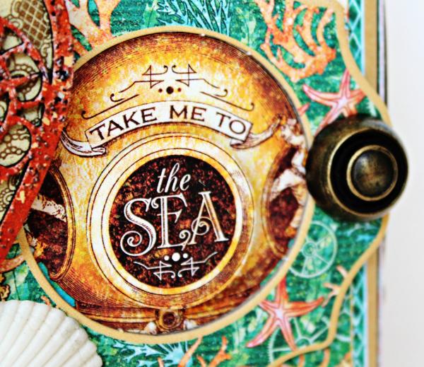 Graphic 45 The Sea is Calling Me Mini Album - Tutorial - Pam Bray 8_0638