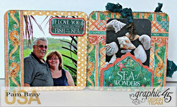 Graphic 45 The Sea is Calling Me Mini Album - Tutorial - Pam Bray 18_0653