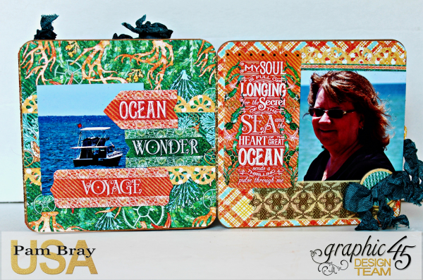 Graphic 45 The Sea is Calling Me Mini Album - Tutorial - Pam Bray 23_0657