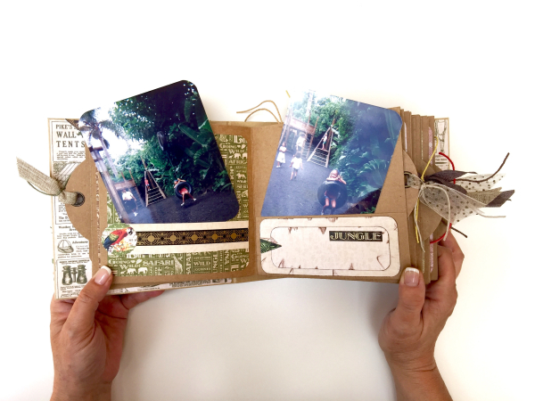Square Tag&Pocket Travel Album Safari Adventure Tutorial by Marina Blaukitchen Product by Graphic 45 photo 15