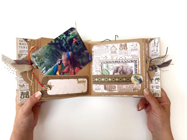 Square Tag&Pocket Travel Album Safari Adventure Tutorial by Marina Blaukitchen Product by Graphic 45 photo 22