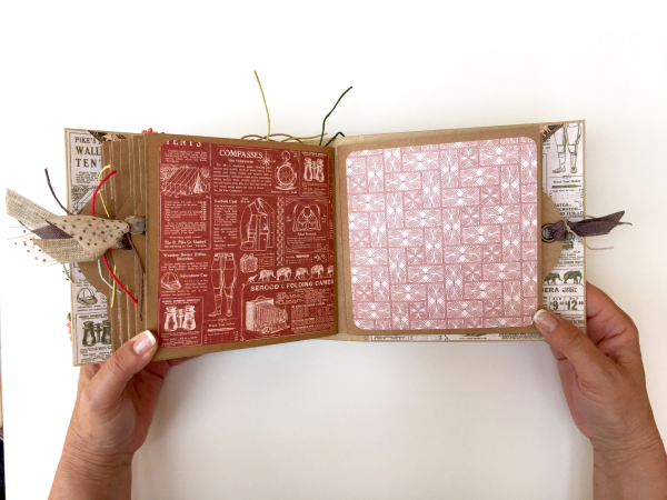 Square Tag&Pocket Travel Album Safari Adventure Tutorial by Marina Blaukitchen Product by Graphic 45 photo 25