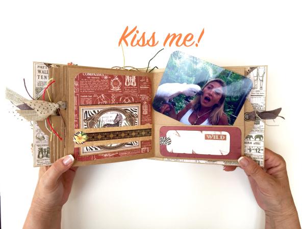 Square Tag&Pocket Travel Album Safari Adventure Tutorial by Marina Blaukitchen Product by Graphic 45 photo 26