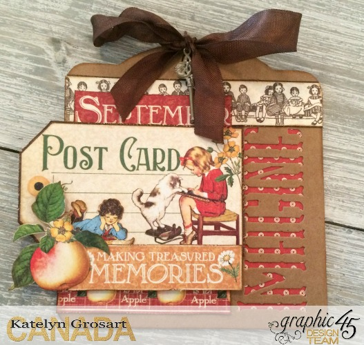 Imagine Tag, Children's Hour, Inspire, Create, Imagine Kraft Tags, Tutorial by Katelyn Grosart, Products by Graphic 45 - Beauty Shot 1
