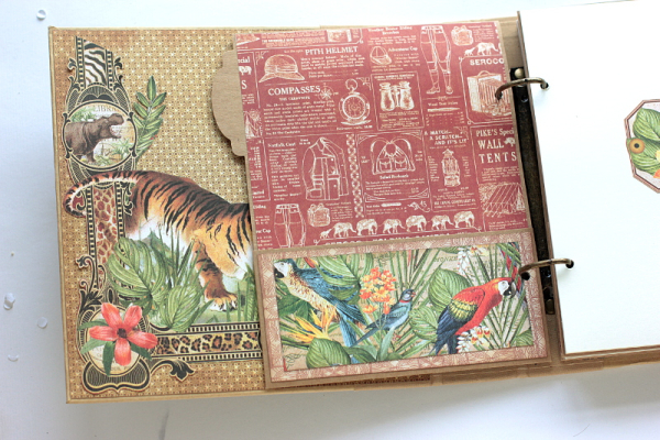Safari Album, Safari Adventure, by Elena Olinevich, Product by Graphic45, Photo sneak