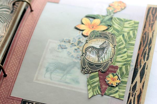 Safari Album, Safari Adventure, by Elena Olinevich, Product by Graphic45, Photo sneak
