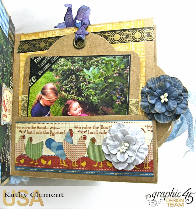 Blueberry Delight Mini Album Tutorial, Home Sweet Home, Staples Square Tag Album, by Kathy Clement, Product by Graphic 45, Photo 27