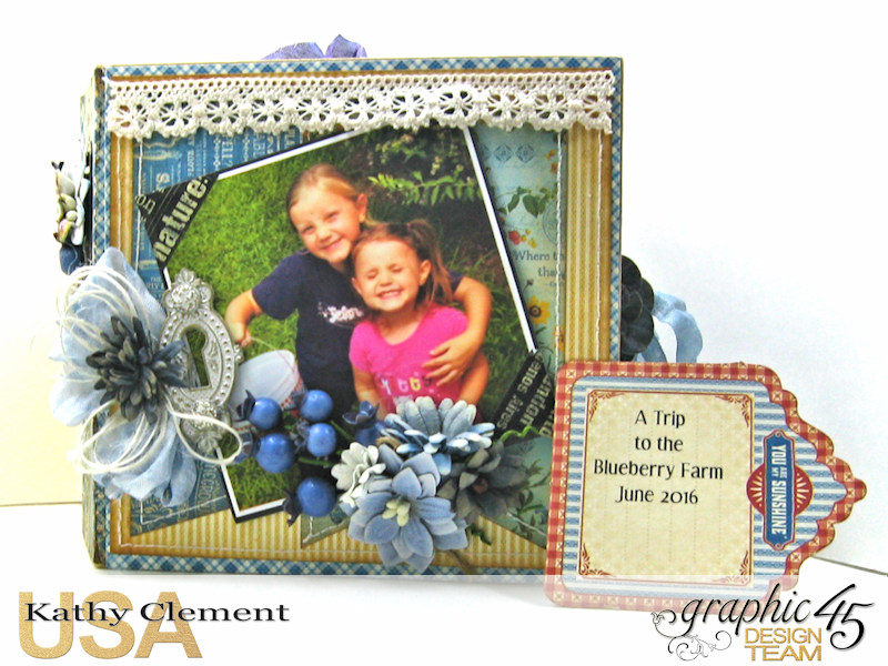 Blueberry Delight Mini Album Tutorial, Home Sweet Home, Staples Square Tag Album, by Kathy Clement, Product by Graphic 45, Photo 30