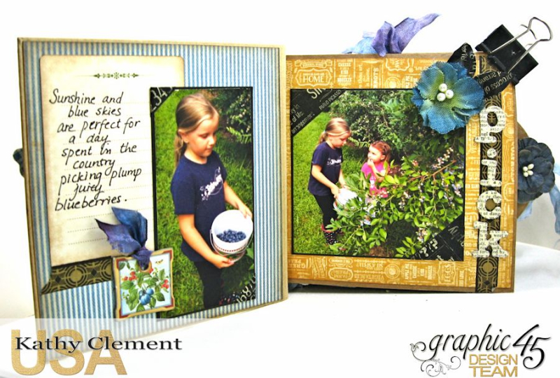 Blueberry Delight Mini Album Tutorial, Home Sweet Home, Staples Square Tag  Album, by Kathy Clement, Product by Graphic 45 Photo9 16