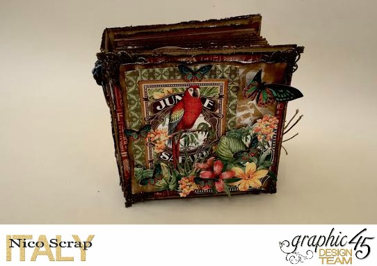 Our Safary of Love, Safari Adventure, Tutorial by Nico Scrap, Product by Graphic 45, Photo 2