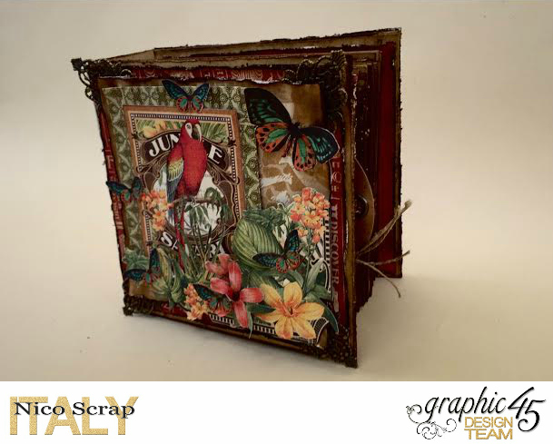Our Safary of Love, Safari Adventure, Tutorial by Nico Scrap, Product by Graphic 45, Photo 5