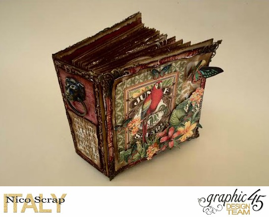 Our Safary of Love, Safari Adventure, Tutorial by Nico Scrap, Product by Graphic 45, Photo 1