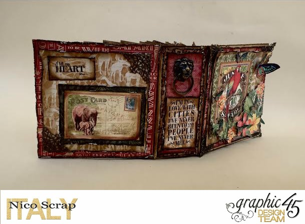 Our Safary of Love, Safari Adventure, Tutorial by Nico Scrap, Product by Graphic 45, Photo 3