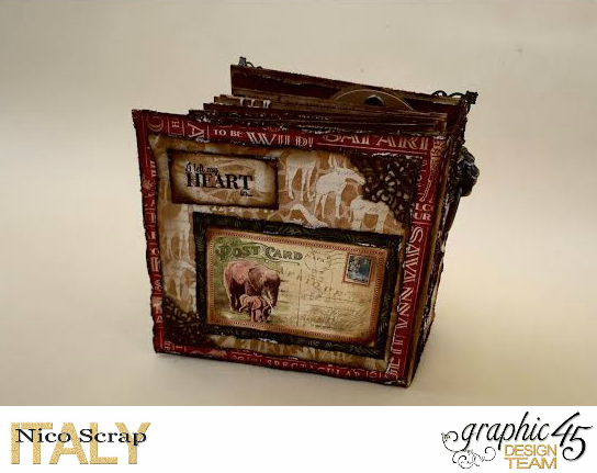 Our Safary of Love, Safari Adventure, Tutorial by Nico Scrap, Product by Graphic 45, Photo 4