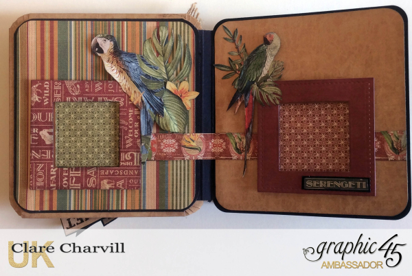 Safari Adventure Square Tag Album 8 Clare Charvill Graphic 45