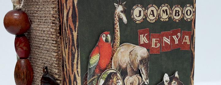 Jumbo Kenya Mini Album, Safari Adventure, by Einat Kessler,  product by Graphic 45, photo 3