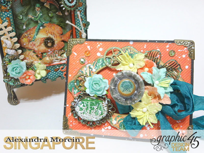 Voyage Beneath The Sea Top Load Mini Album, Tutorial by Alexandra Morein, Product by Graphic 45, Photo 9
