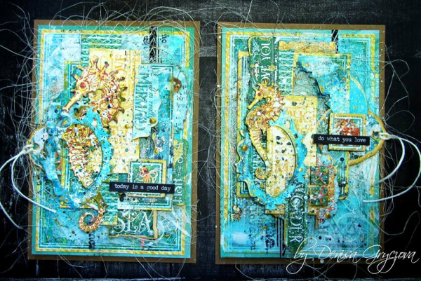 Denisa's Voyage Beneath the Sea cards shared by @scrapsofdarknes #graphic45