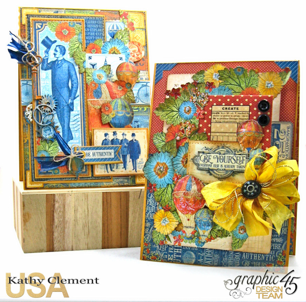 His and Her Birthday Card Tutorial, World's Fair, by Kathy Clement, Product by Graphic 45 Photo 1