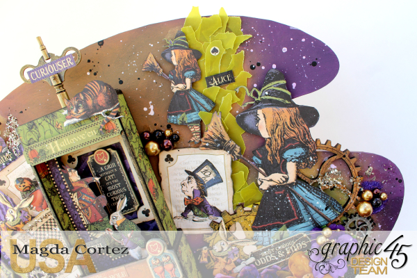Wonderland Secrets Home Decor-Hallowe'en in Wonderland-By Magda Cortez-Product by Graphic 45- Photo 01-04- Project with Tutorial