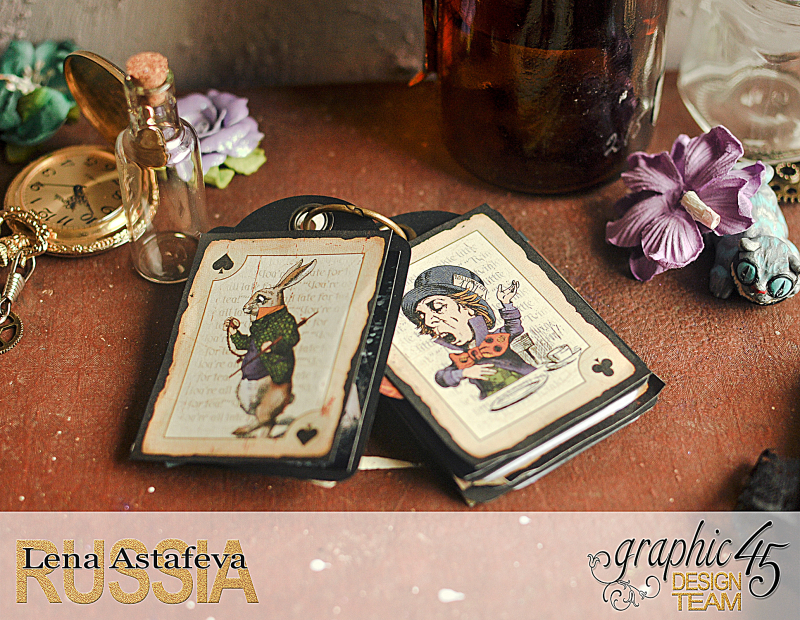 Book Box and mini album-Hallowe'en in Wonderland-Tutorial by Lena Astafeva-products by Graphic 45-Photo-38