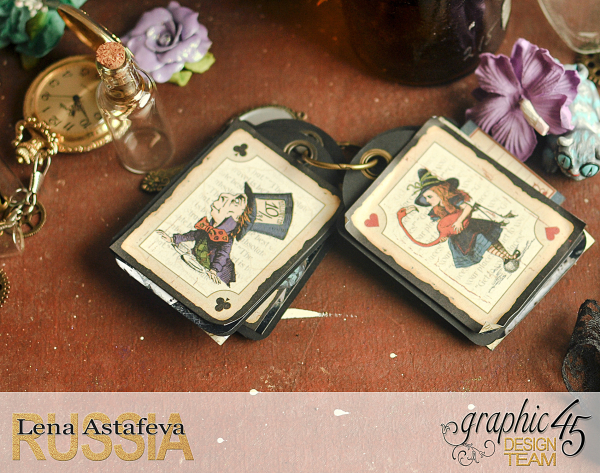 Book Box and mini album-Hallowe'en in Wonderland-Tutorial by Lena Astafeva-products by Graphic 45-Photo-44