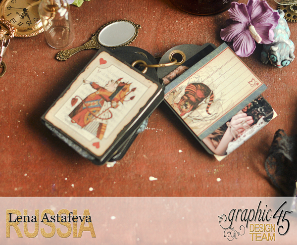 Book Box and mini album-Hallowe'en in Wonderland-Tutorial by Lena Astafeva-products by Graphic 45-Photo-46