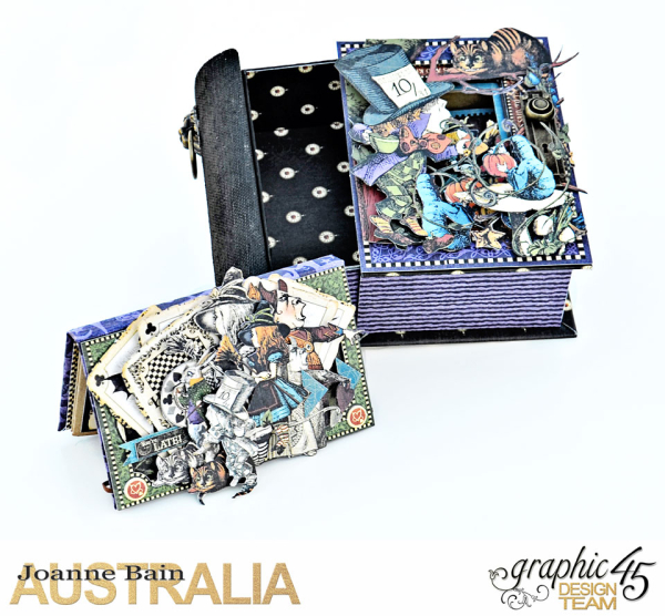 Book-Box,-Halloween-In-Wonderland,-Tutorial-By-Joanne-Bain,-Product-by-Graphic-45,-Photo-4