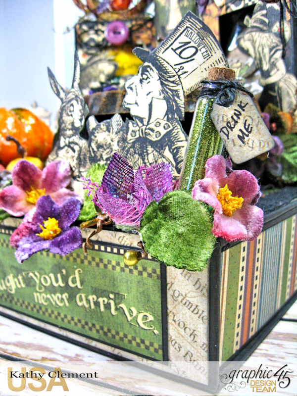 Halloween Tea with Alice, Halloween in Wonderland, by Kathy Clement, Product by Graphic 45 Photo 1