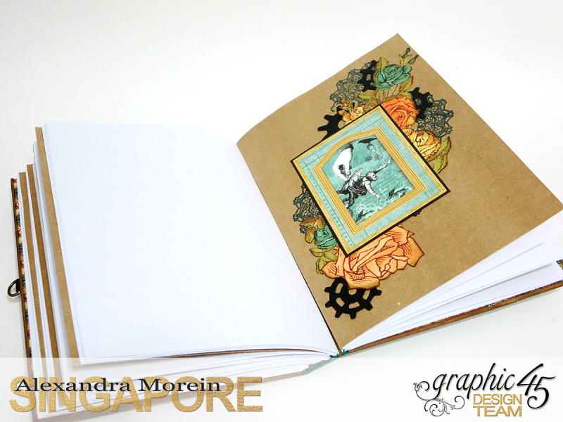 DIY Notebook, Steampunk Debuntante, Tutorial by Alexandra Morein, Product by Graphic 45, Photo 15
