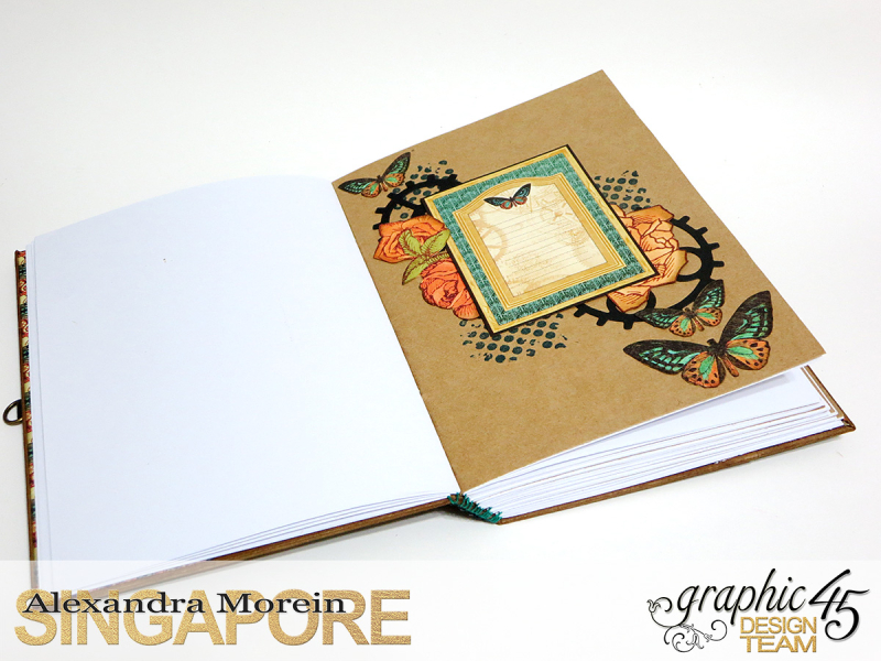 DIY Notebook, Steampunk Debuntante, Tutorial by Alexandra Morein, Product by Graphic 45, Photo 10
