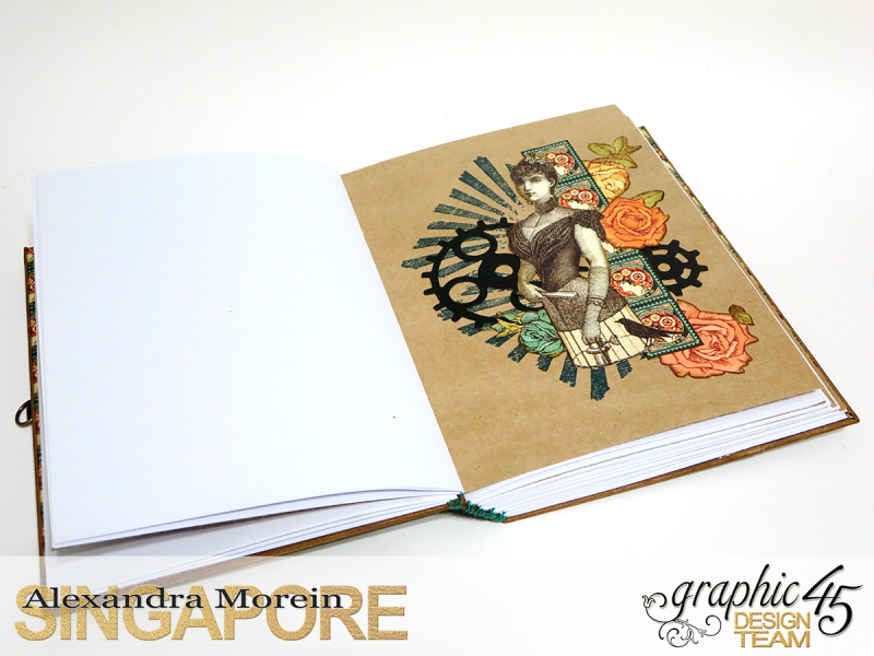 DIY Notebook, Steampunk Debuntante, Tutorial by Alexandra Morein, Product by Graphic 45, Photo 11