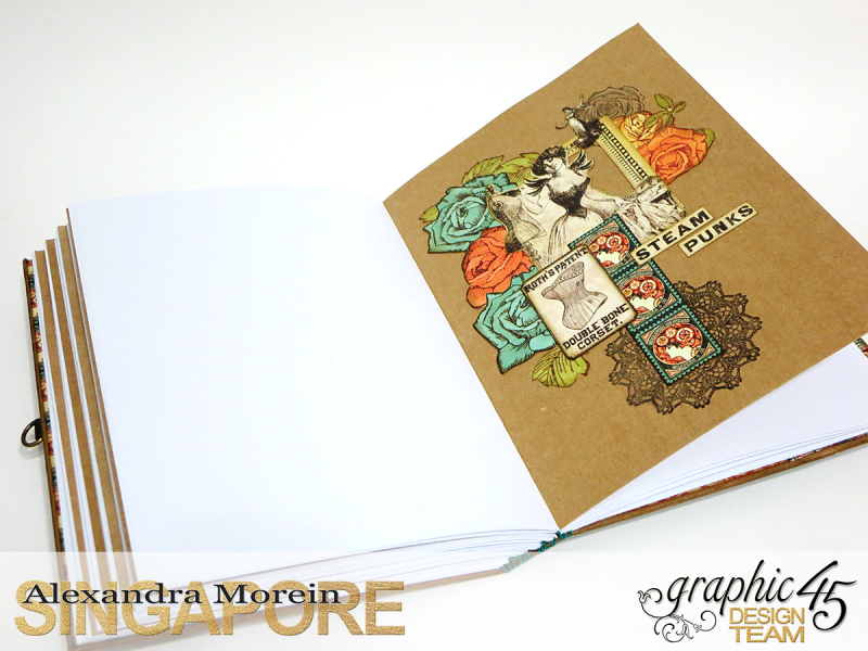 DIY Notebook, Steampunk Debuntante, Tutorial by Alexandra Morein, Product by Graphic 45, Photo 16