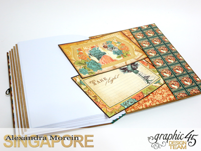 DIY Notebook, Steampunk Debuntante, Tutorial by Alexandra Morein, Product by Graphic 45, Photo 17