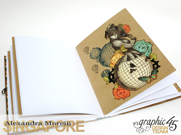 DIY Notebook, Steampunk Debuntante, Tutorial by Alexandra Morein, Product by Graphic 45, Photo 13