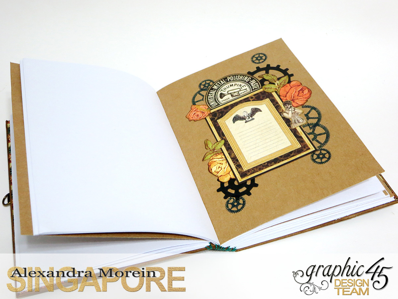 DIY Notebook, Steampunk Debuntante, Tutorial by Alexandra Morein, Product by Graphic 45, Photo 12