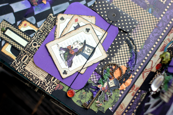 Halloween in Wonderland Album, by Elena Olinevich, product by Graphic45, Photo6