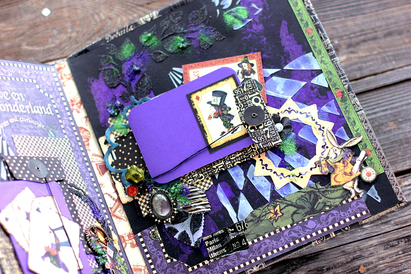 Halloween in Wonderland Album, by Elena Olinevich, product by Graphic45, Photo8