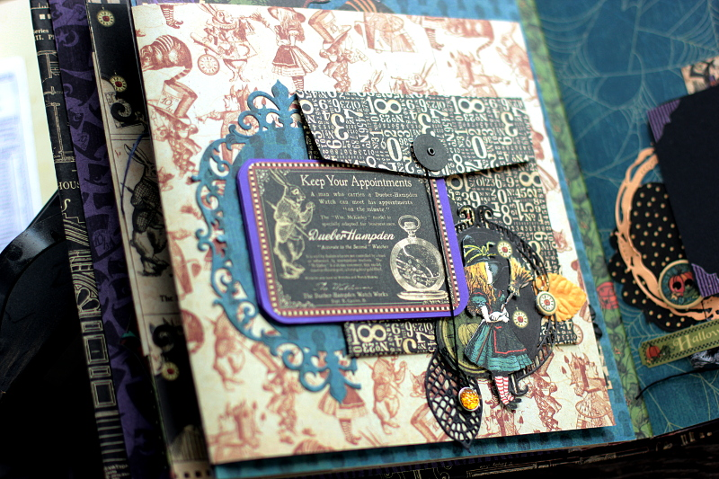 Halloween in Wonderland Album, by Elena Olinevich, product by Graphic45, Photo5