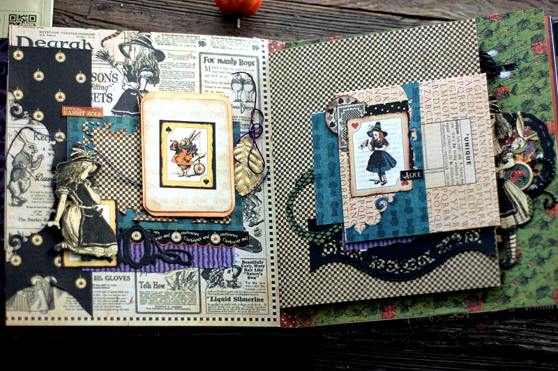 Halloween in Wonderland Album, by Elena Olinevich, product by Graphic45, Photo2d