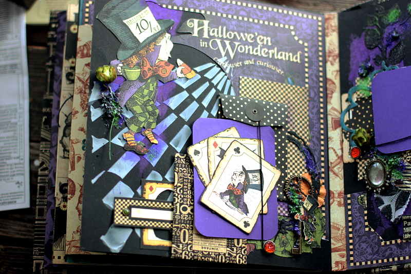 Halloween in Wonderland Album, by Elena Olinevich, product by Graphic45, Photo7