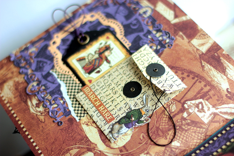 Halloween in Wonderland Album, by Elena Olinevich, product by Graphic45, Photo6d