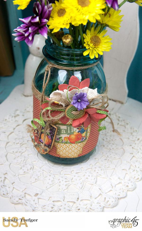 Flower Mason Jar, World's Fair, Children's Hour, by Sandy Trefger, Product by Graphic 45, Photo 005