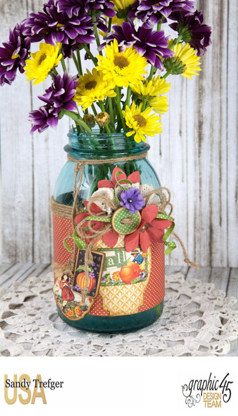 Flower Mason Jar, World's Fair, Children's Hour, by Sandy Trefger, Product by Graphic 45, Photo 001